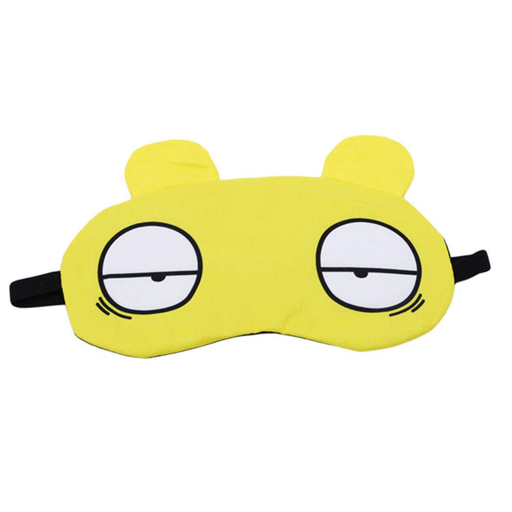 LZIYAN Sleep Masks Cartoon Sleep Eye Mask Soft Cute Eyeshade Eyepatch Travel Sleeping Blindfold Nap Cover,Yellow