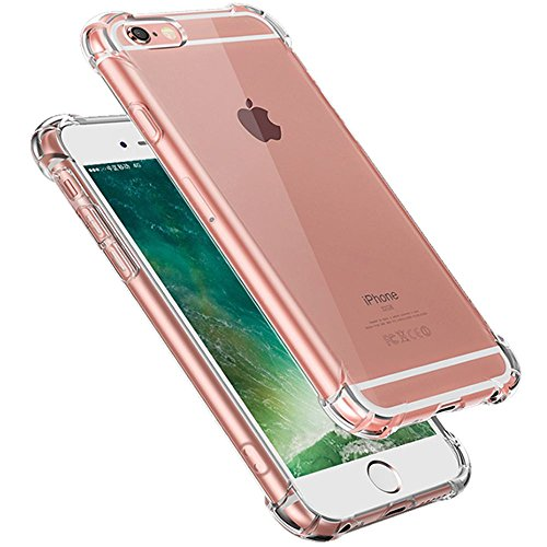 iPhone 6s Plus Case,Yoyamo Crystal Clear Cover Case [Shock Absorption] with Soft TPU Gel Bumper for iPhone 6s Plus