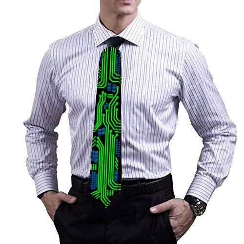 LED Glow Tie, Sound Activated Novelty Tie, Light Up Tie for Rave Party, DJ Bar, Christmas and More ()