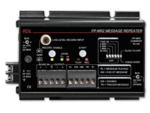 RDL FP-MR2 Message Repeater, 20 Hz to 100 kHz Frequency Response, Automatic Voice Over - Power Supply Included from Radio Design Labs