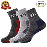 Set of 3 Men's Hiking Camping Trekking Socks,Quick Drying and Moisture Wicking Socks for Camping,Full Thickness Micro Crew For Trekking Mountaineering,Trekking Mountaineering
