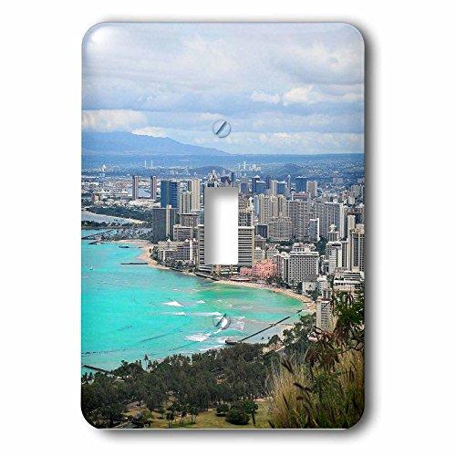 3dRose Cities Of The World - Waikiki Beach In Honolulu, Hawaii - Light Switch Covers - single toggle switch - Outlets Waikiki In