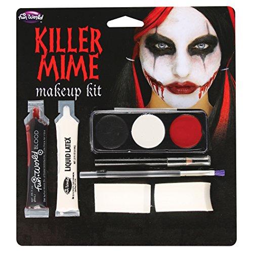 Killer Mime Makeup Kit, 5222KM, Fun (Mime Makeup Kit)