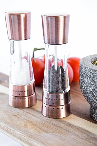 COLE & MASON Derwent Salt and Pepper Grinder Set - Copper Mills Include Gift Box, Gourmet Precision Mechanisms and Premium Sea Salt and Peppercorns by Cole & Mason (Image #5)