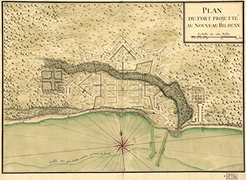 Map: 1721 Plan du fort projette? au nouveau Bilocxy|Biloxi|Biloxi Miss|Fortification|Mississippi| (Biloxi Mississippi Map)