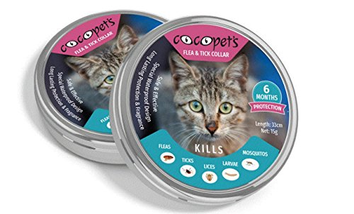 Pet Flea and Tick Collar for Cats and Kittens 33cm - 6 Months Protection, Stops Bites, Itching, Kill Insects, Larvae, Eggs and More - Waterproof, and Fully Adjustable by Cocopet's