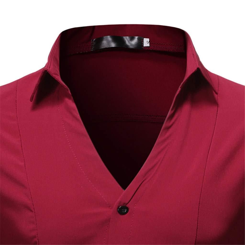 AOmahh Mens Fashion Long Sleeve Shirt Printed Long-Sleeved Down Dress Shirts Tailored Fit Dress Shirt