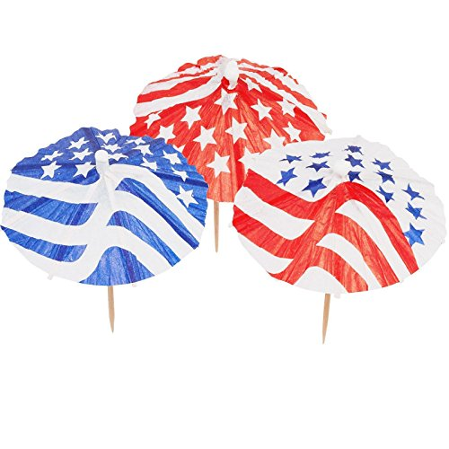 Patriotic Parasol Picks Party Supplies