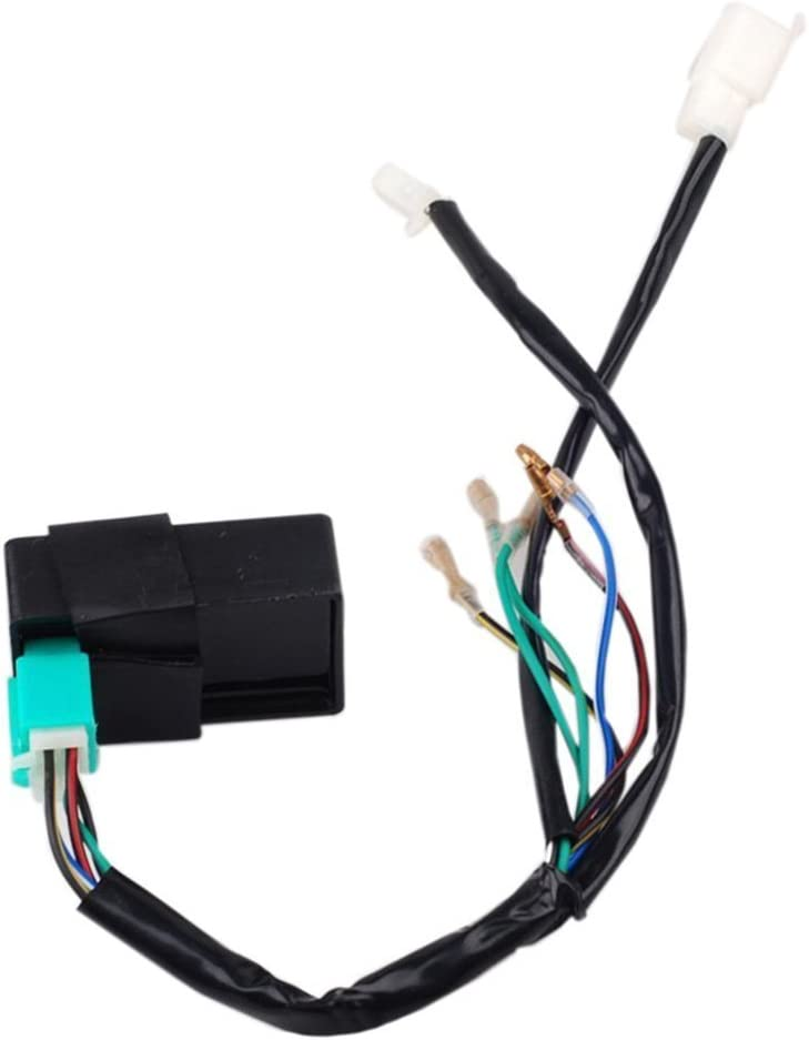 ZXTDR Wire Harness Wiring Loom CDI Ignition Coil Spark plug Rebuild Kit for Kick Start Dirt Pit Bike ATV 50-160cc