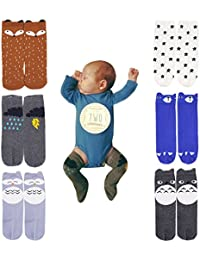 Unisex Baby Knee High Stockings Tube Socks 6 Pairs