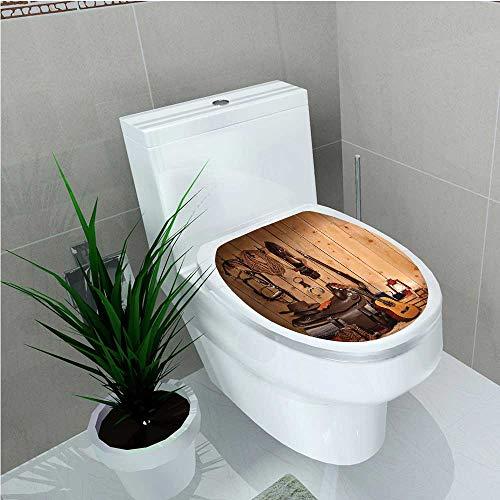 toilet seat decal vinyl american