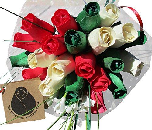 christmas-flower-bouquet-the-original-wooden-rose-closed-bud-2-dozen