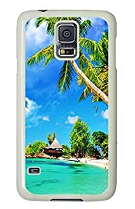 White Fashion Case for Samsung Galaxy S5,PC Case Cover for Samsung Galaxy S5 with Beautiful Beaches