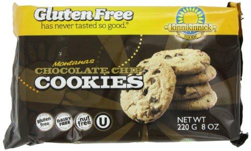 Kinnikinnick Gluten Free Cookies, Montana Chocolate Chip, 8 Ounce (Pack of 6)