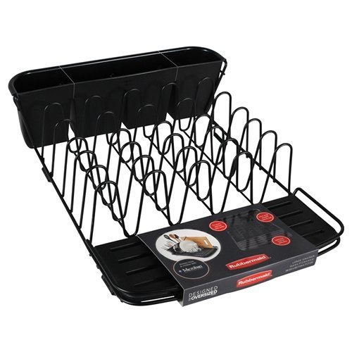 - Rubbermaid Deluxe Dish Drainer in Black