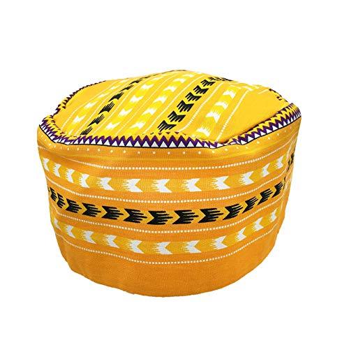 Vipada Handmade African Dashiki Hat Kente Pattern Kufi Kofi Hat Cap Style2 (Yellow)]()
