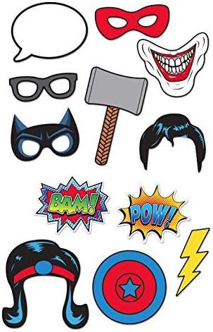 Generique - Kit photocall 12 Unidades superhéroes: Amazon.es: Juguetes y juegos