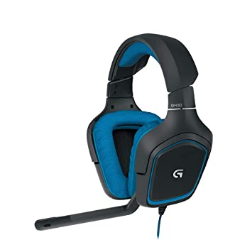 82c14b2848c Logitech G430 Gaming Headset for PC Gaming with 7.1 Dolby Surround,  Black/Blue