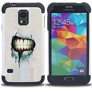 King Case - Grunge Smile Teeth - Cubierta de la caja protectora completa h???¡¯???€????€?????brido Body Armor Protecci???&rsquo