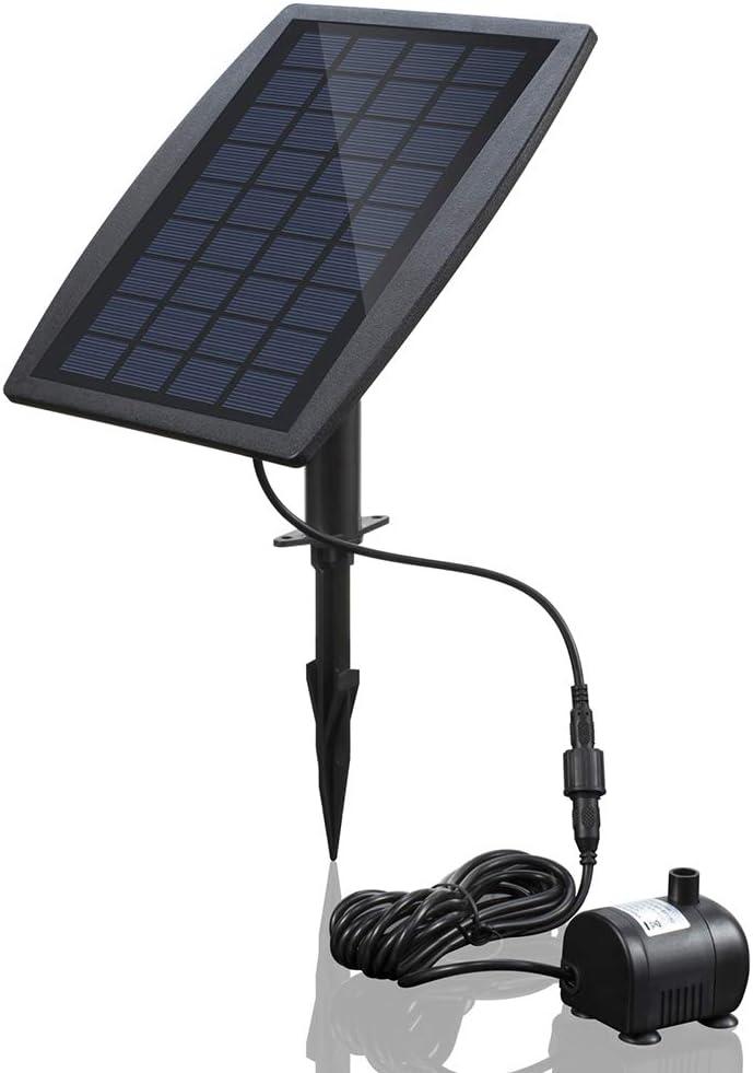 Anself BSV-SP025 - Bomba de Agua de Panel de Energía Solar Sin Cepillo para Piscina Jardín Fuentes (9V , 2.5W )
