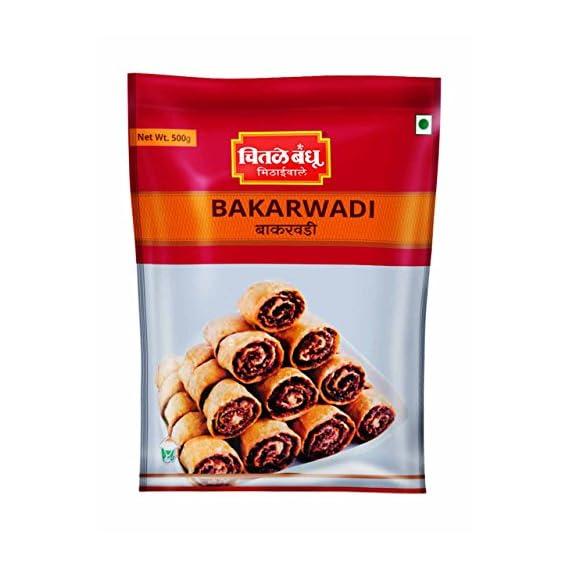 CHITALE BANDHU MITHAIWALE Bakarwadi, 500gm - Pack of 2