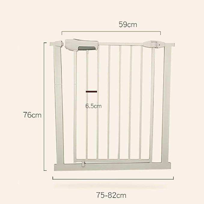 Huo Pórtico Ancho Puerta de La Escalera Puerta del Bebé, Decorativo Tarea Pesada Metal Barrera de Seguridad con Una Sola Mano De Operación Y Durabilidad. Montaje De Presión (Size : Width 65-72cm):