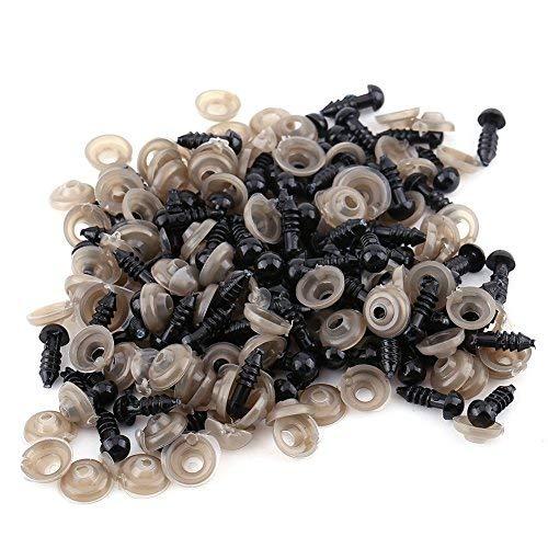 -nasen für Toy Doll 1 Packung mit schwarzen Kunststoff-Sicherheitsaugen