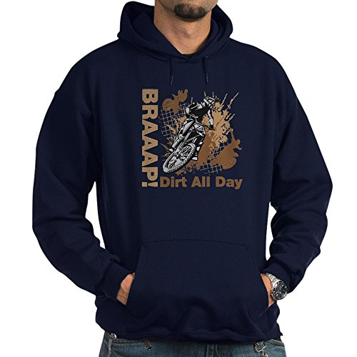 CafePress Motocross Dirt Bike Hoodie Pullover Hoodie, Classic & Comfortable Hooded Sweatshirt Navy (Jacket Supermoto)