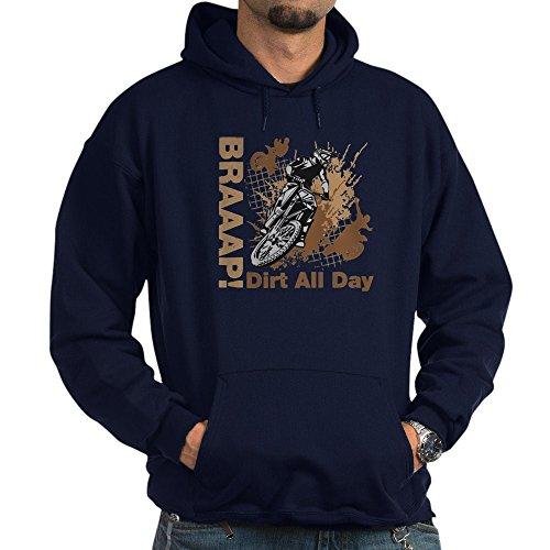 CafePress Motocross Dirt Bike Hoodie - Pullover Hoodie, Classic & Comfortable Hooded Sweatshirt (Supermoto Jacket)