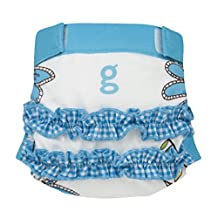 gDiapers Girly Twirly Blue gPants, Large (22-36 lbs)