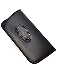Full Clip Soft Slip In Eyeglass Case Black