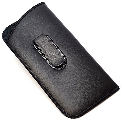 Full Clip Soft Eyeglass Case in Black