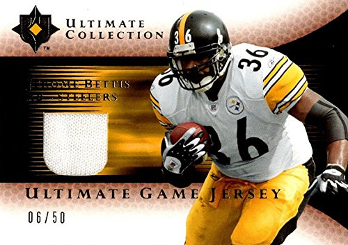 Unsigned Jersey Collection (Signed Bettis, Jerome (Pittsburgh Steelers) Jerome Bettis 2005 Upper Deck Ultimate Collection Unsigned Football Jersey Card. #6/50 autographed)