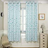 2 Panels Floral Jacquard Grommet Curtains Room Darkening Thermal Insulated Window Drapes for Infant Room(52″Wx84″L,Blue) Review