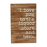 Mud Pie 4345120 Planked Wood Liquor Store & Back Wall Plaque Review