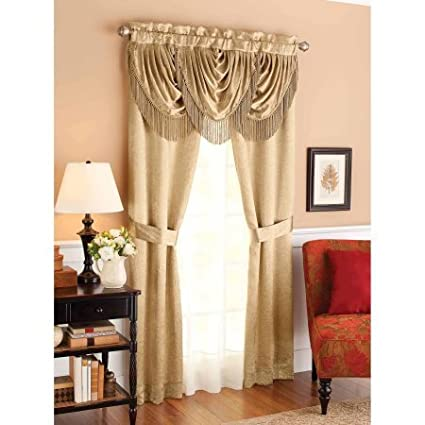 Better Homes and Gardens Triple Waterfall Window Set, Gold 84\