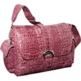 Kalencom Diaper Bag, Crocodile Wine