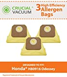 Home - Crucial Vacuum 3 Honda Odyssey Vacuum Car Bags, Compare to Part # 2940380 and 84909-TK8-A01