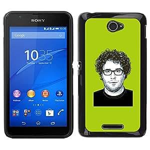 Caucho caso de Shell duro de la cubierta de accesorios de protección BY RAYDREAMMM - Sony Xperia E4 - Comedia Actor de Hollywood famoso