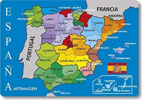 Mapa De Provincias Españolas.Artimagen Iman Mapa Provincias Espana 80x55 Mm