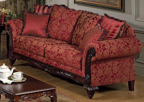 Chelsea Home Furniture Serta Tia Sofa, Base Upholstered in Momuntum Magenta