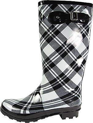 NORTY Women's Hurricane Wellie - 14 Solids Prints - Glossy & Matte Waterproof Hi-Calf Rainboots
