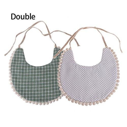 Hacloser 1Pc Baby Triangle Bibs Unisex Double-Sided Printing Tassel Saliva Towel Bandana Head Scarf (05#) ()