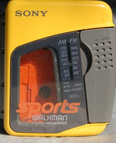 SONY Sports WALKMAN AM/FM Cassette WM-FS397