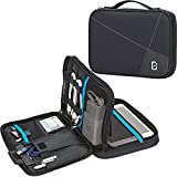 BGTREND Electronic Cord Organizer Travel Cable Bag Water Resistant Double Layer External Hard Drive Storage Bag, Black
