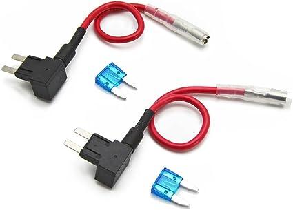 FOSHIO 12V Car Añadir Fusible de circuito Adaptador ACS TAP Perfil ...