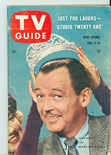 1957 TV Guide Jun 22 Jack Bailey of Queen for a Day - Wisconson Edition NO MAILING LABEL Very Good to Excellent (4 out of 10) Used Cond. by Mickeys - Queen Bailey
