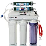 LiquaGen 6-Stage Reverse Osmosis/Deionization (RO/DI) Water Filtration System, 150 GPD Membrane w/ Manual Flush Valve