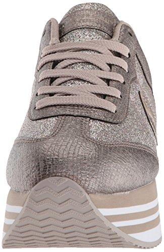 con Dedos Mujer Purpurina Pewter Skechers73931 Highrise T 0vqqS