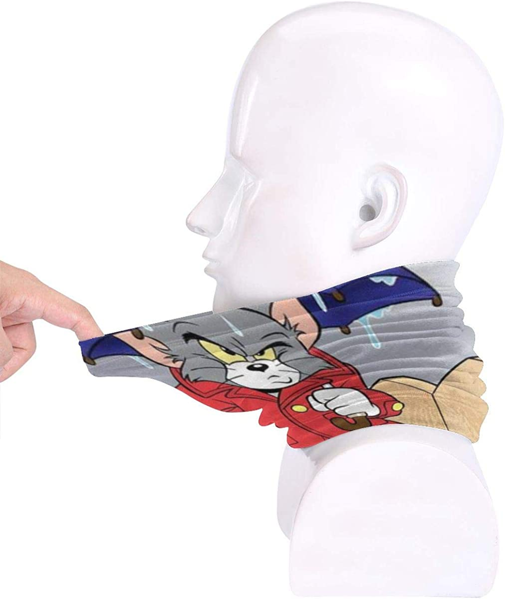 Tom /& Jerry Scarf Anime Headpiece Dustproof Face Shield Washable with 2 Filters for Men Women Outdoor Tom /& Jerry 01